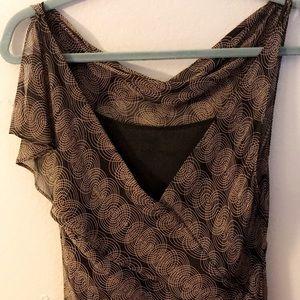 Max Studio Sheer overlay print Dress
